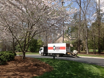 greath photo of our service truck in the spring